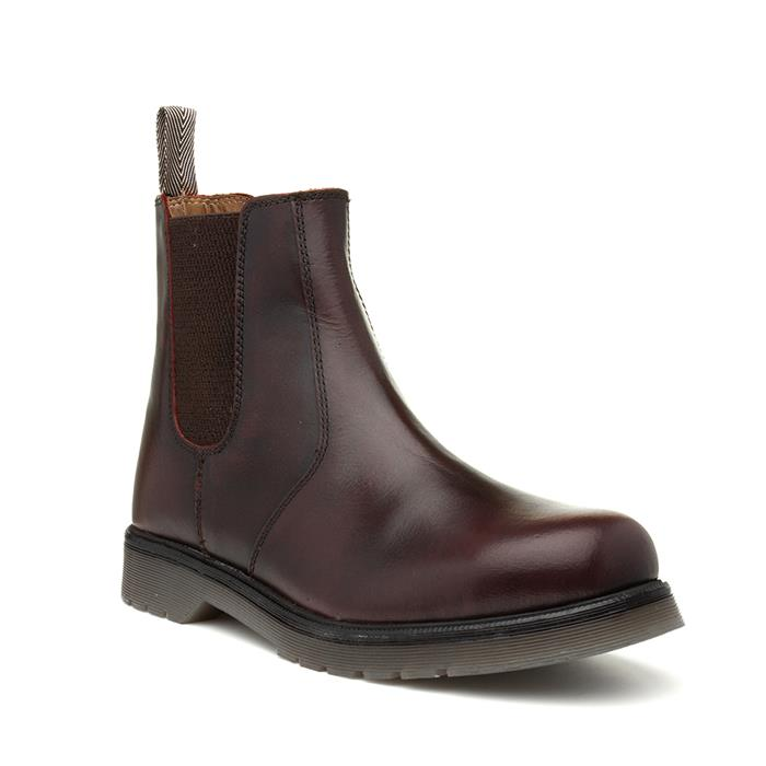 Catesby Bordo Mens Burgundy Leather Chelsea Boot