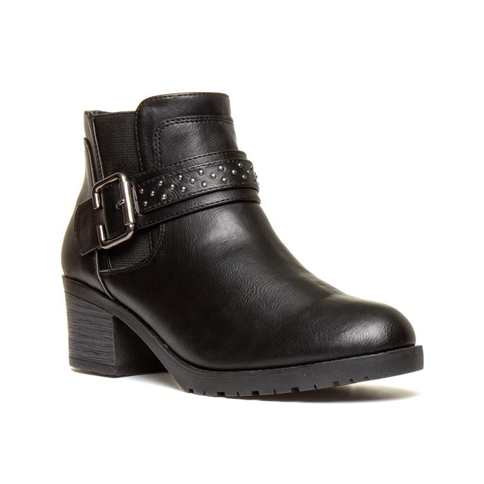 Lilley Womens Black Heeled Chelsea Boot