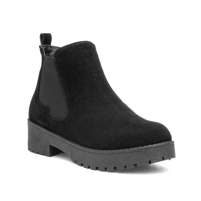 Lilley Womens Black Zip Up Chelsea Boot