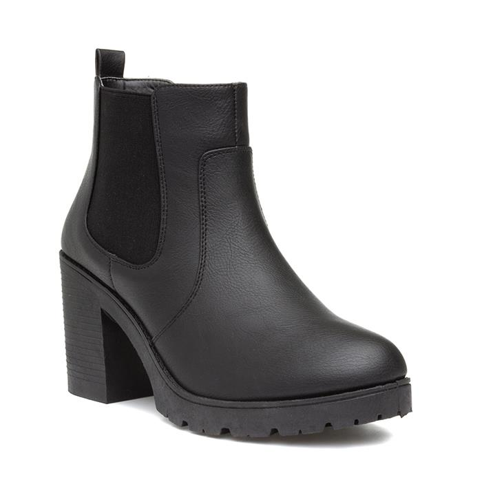 Lilley Womens Heeled Chelsea Boot in Black