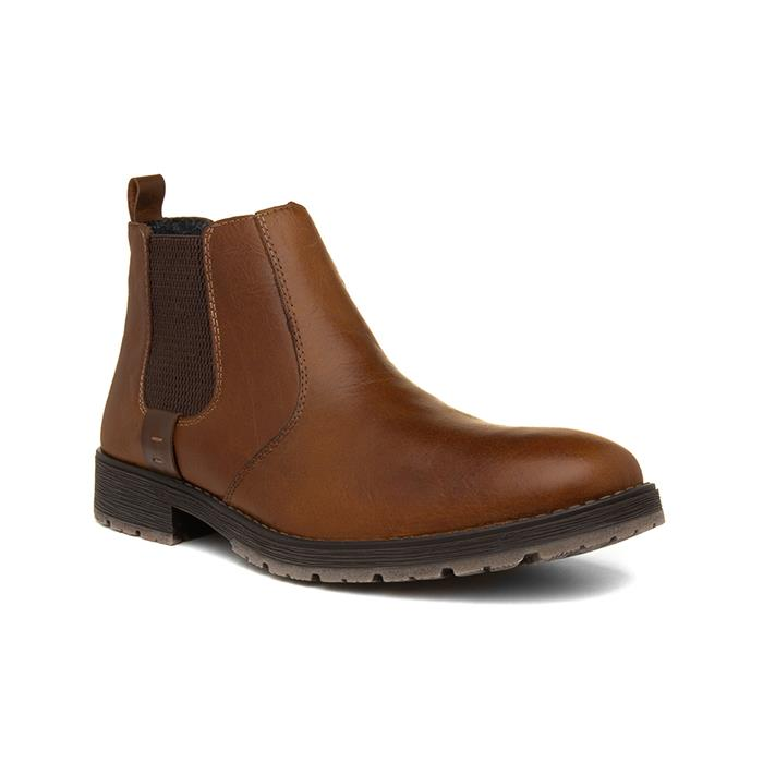 Rieker Mens Brown Leather Chelsea Boot