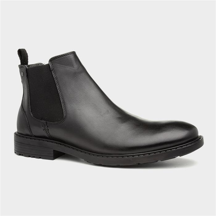 Tred Flex Imola Mens Black Leather Chelsea Boot