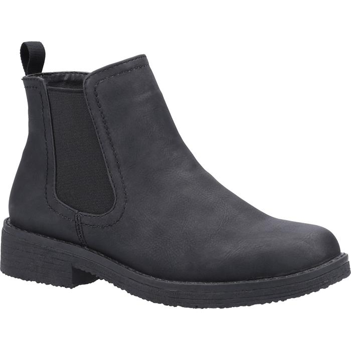 Divaz Womens Aria Chelsea Boot in Black