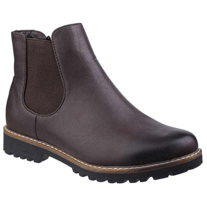 Divaz Womens Grace Chelsea Boot in Brown