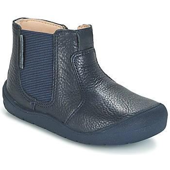 Start Rite FIRST CHELSEA boys's Children's Mid Boots in Blue. Sizes available:2.5 toddler