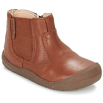 Start Rite FIRST CHELSEA girls's Children's Mid Boots in Brown. Sizes available:3 toddler