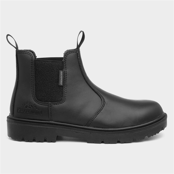 Groundwork GR49A Mens Black Chelsea Safety Boot