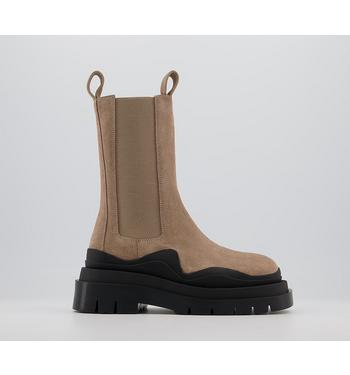 Alias Mae Piper High Chelsea Boots NATURAL SUEDE