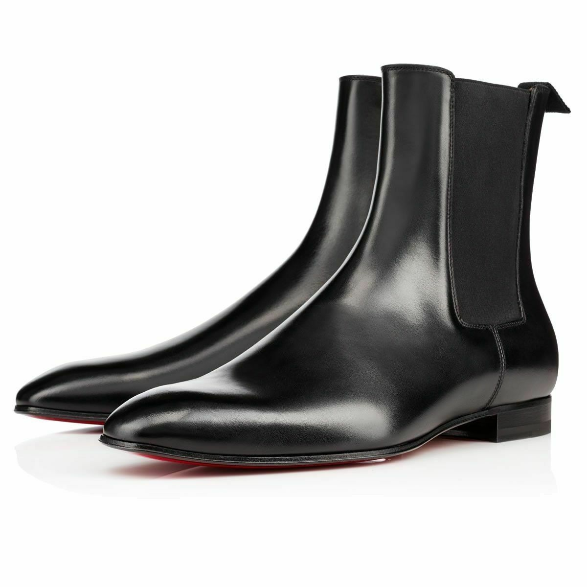 Men's Black Chelsea High Ankle Jumper Slip Ons Leather Premium Quality Boots